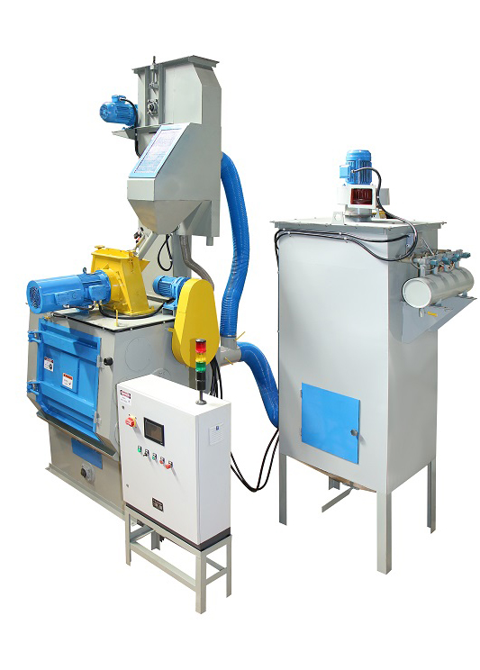 Q326EA rubber belt tumble blasting machine