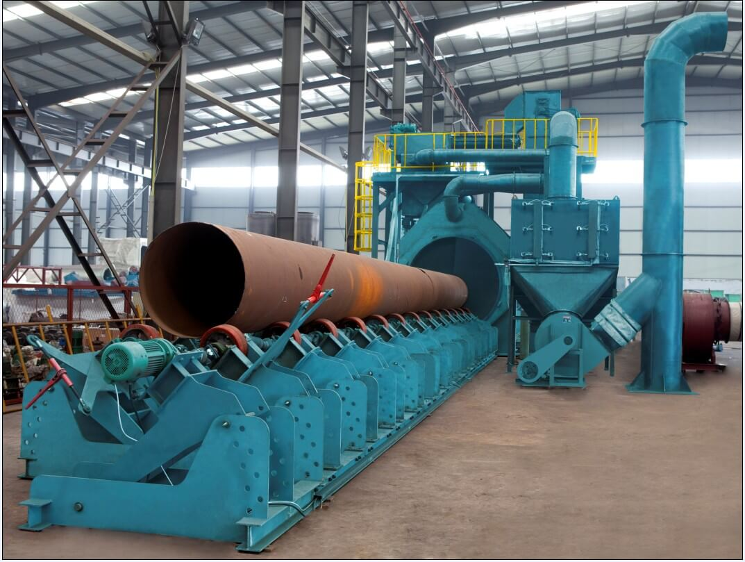 Steel pipe-Outer-Wall-Shot-Blasting-Machine