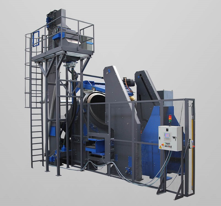 rotary drum blasting machine -3