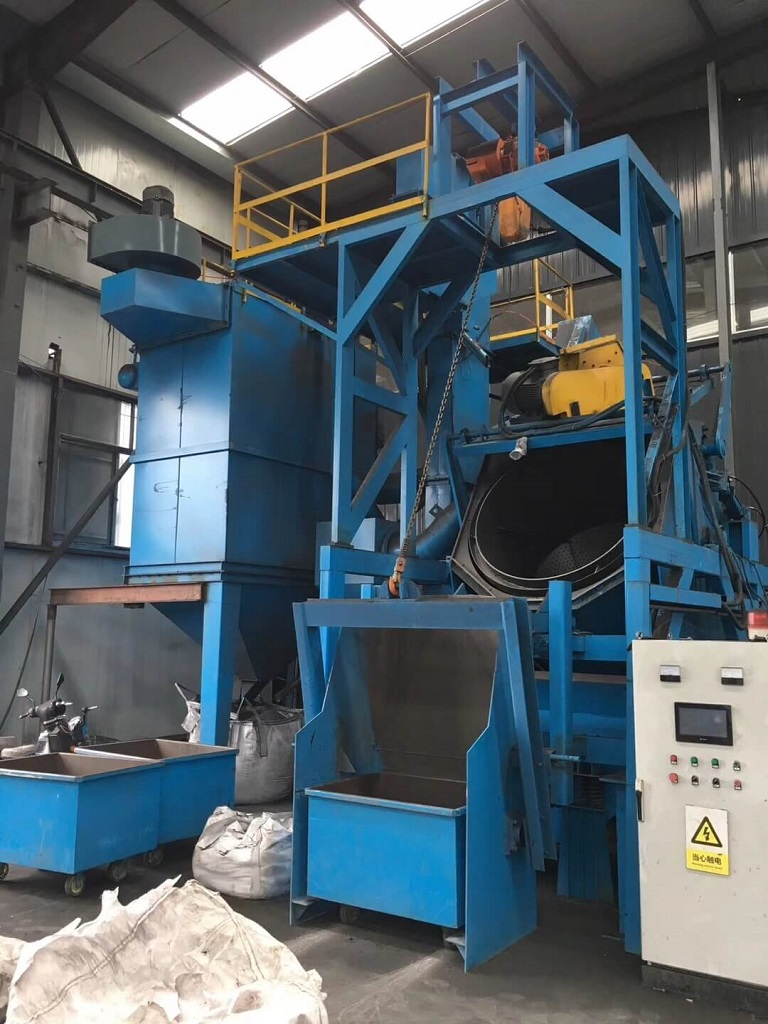 rotary drum blasting machine -5